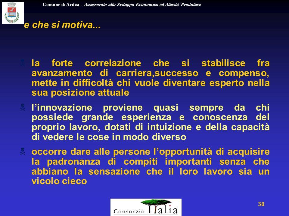 Comune di Ardea – Assessorato allo Sviluppo Economico ed Attività Produttive 38 e che si motiva...