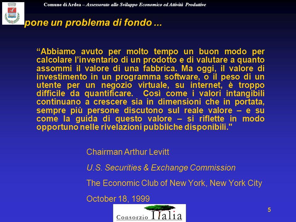 Comune di Ardea – Assessorato allo Sviluppo Economico ed Attività Produttive 56 costruendo una balanced scorecard...
