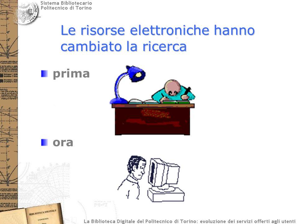 prima ora Le risorse elettroniche hanno cambiato la ricerca