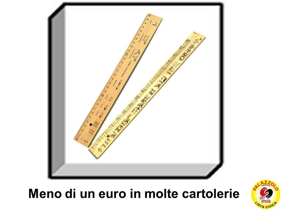 Meno di un euro in molte cartolerie