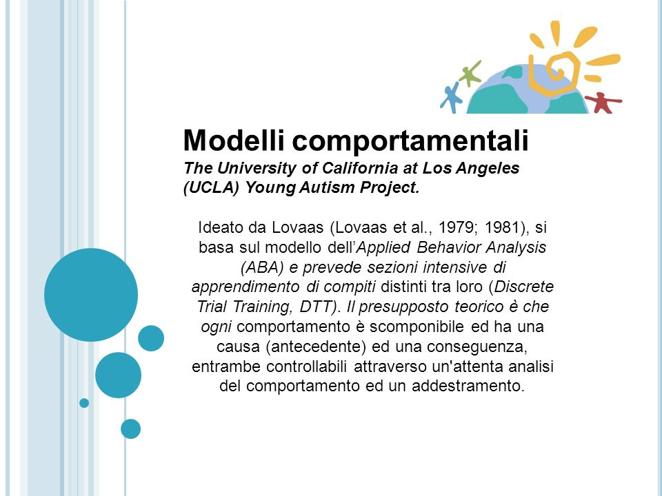 Modelli comportamentali Learning Experiences, an Alternative Program for Preschoolers and their Parents (LEAP) at the University of Colorado School of