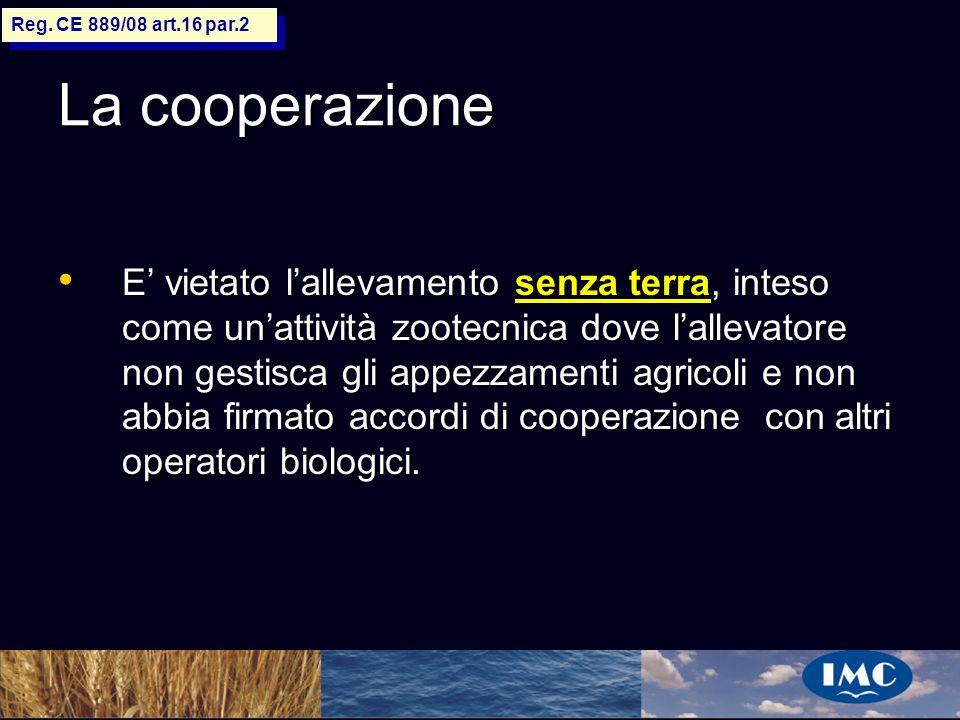 Sergio Benedetti La cooperazione E vietato lallevamento senza terra, inteso come unattività zootecnica dove lallevatore non gestisca gli appezzamenti
