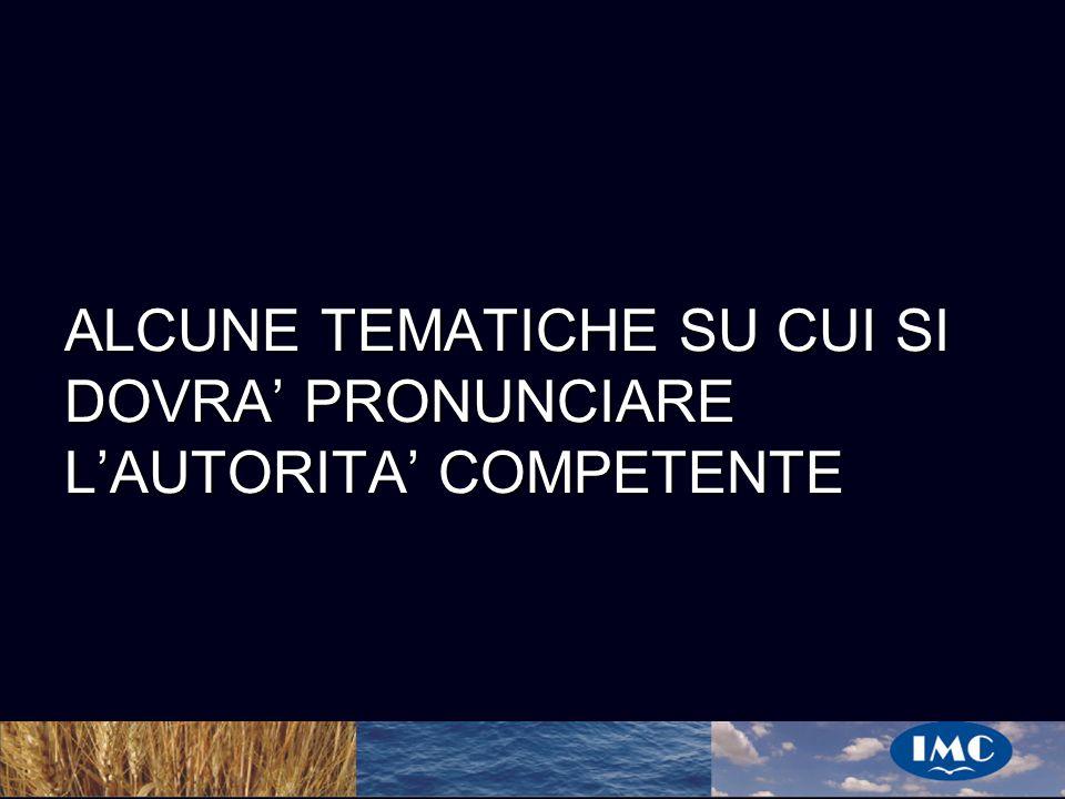 Sergio Benedetti ALCUNE TEMATICHE SU CUI SI DOVRA PRONUNCIARE LAUTORITA COMPETENTE