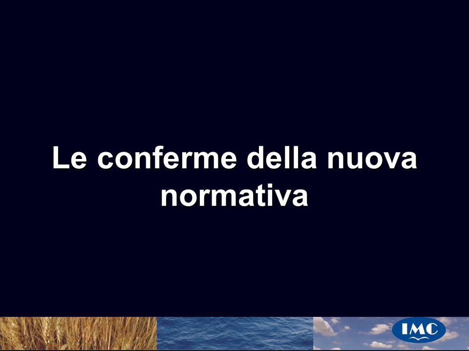 Sergio Benedetti Le conferme della nuova normativa