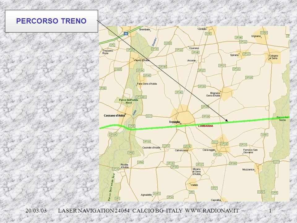 20/03/03 LASER NAVIGATION 24054 CALCIO BG ITALY WWW.RADIONAV.IT 1 PERCORSO TRENO