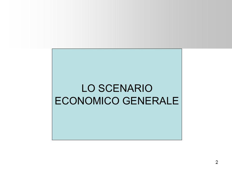 2 LO SCENARIO ECONOMICO GENERALE