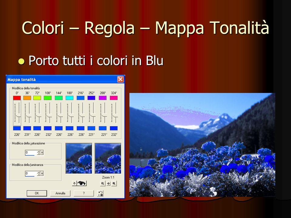 Colori – Regola – Mappa Tonalità Porto tutti i colori in Blu Porto tutti i colori in Blu