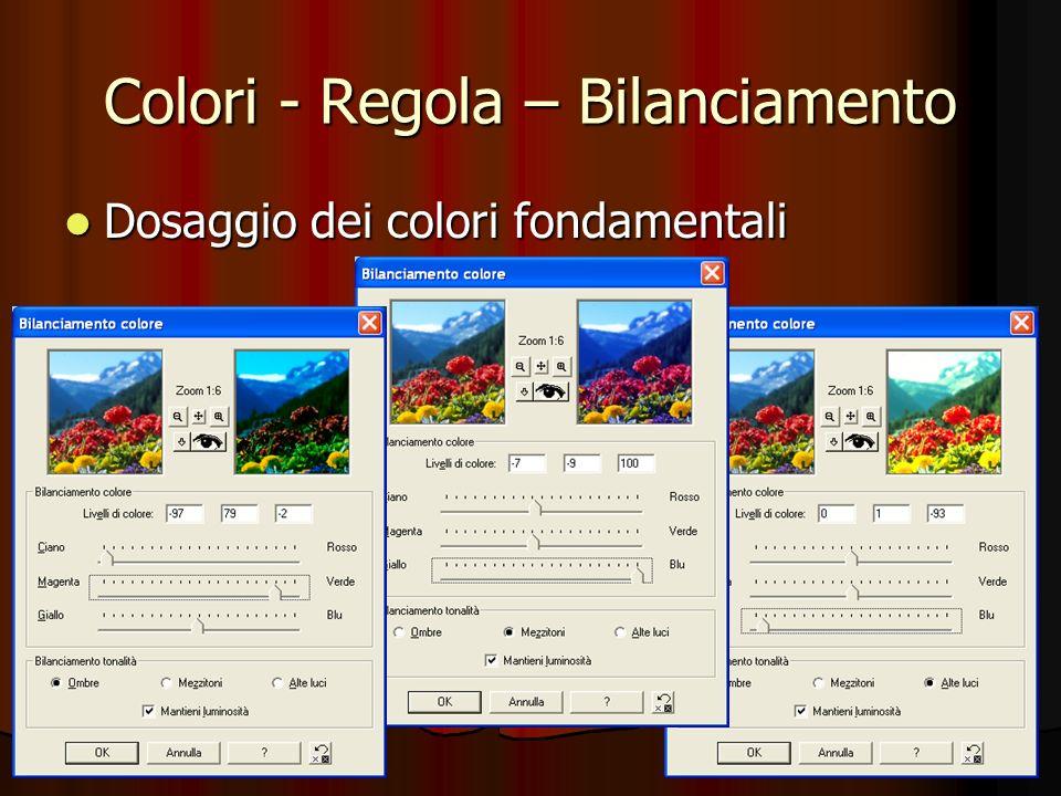 COLORI - SCOMPONI CANALE - HSL Le singole immagini sono salvabili, per un uso o elaborazione successiva.