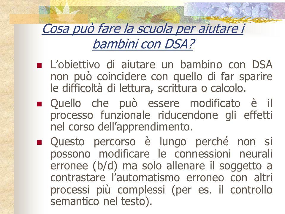 Cosa può fare la scuola per aiutare i bambini con DSA? Lobiettivo di aiutare un bambino con DSA non può coincidere con quello di far sparire le diffic