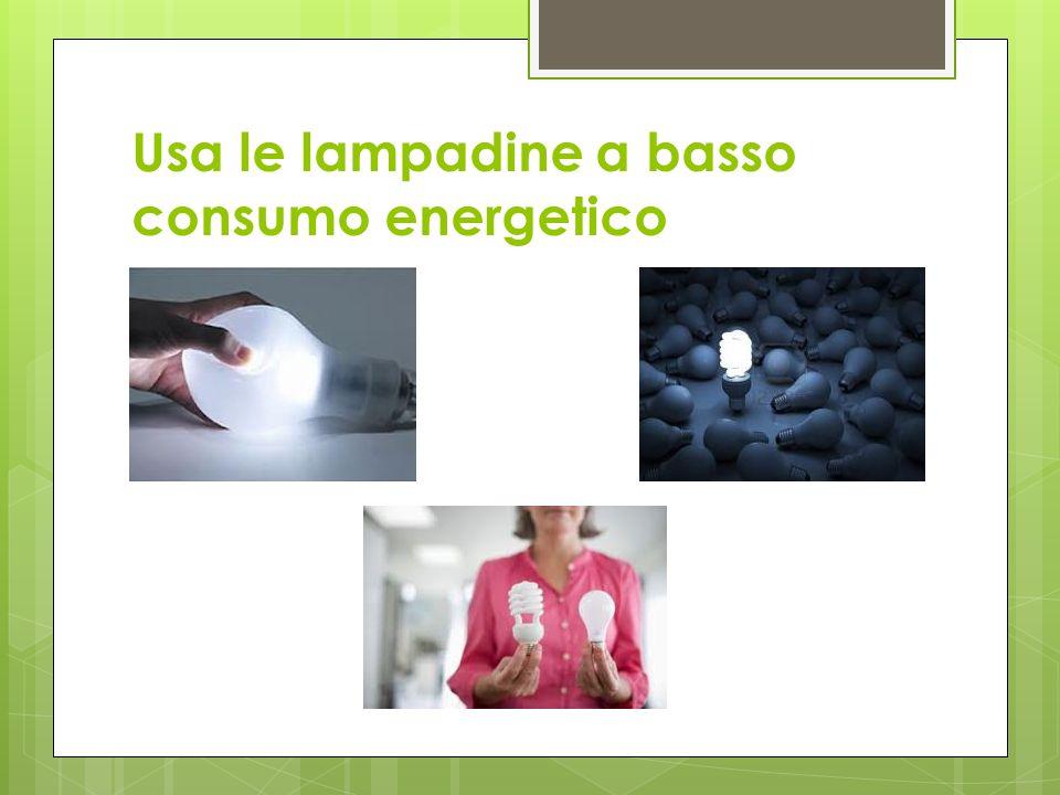 Usa le lampadine a basso consumo energetico