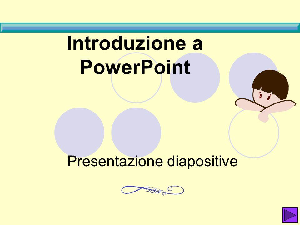 Introduzione a PowerPoint Presentazione diapositive