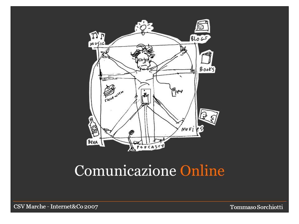 E poi arrivò il Web 2.0 Tommaso Sorchiotti CSV Marche - Internet&Co 2007