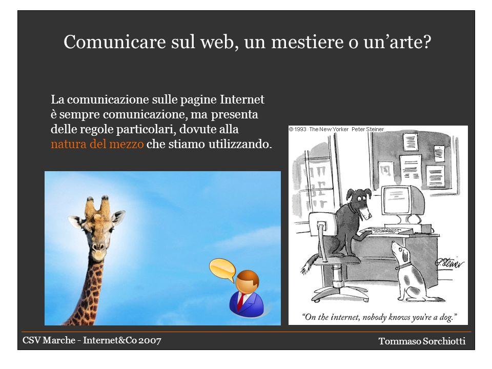Serve un riepilogo Interviste sulla comunicazione Tommaso Sorchiotti CSV Marche - Internet&Co 2007