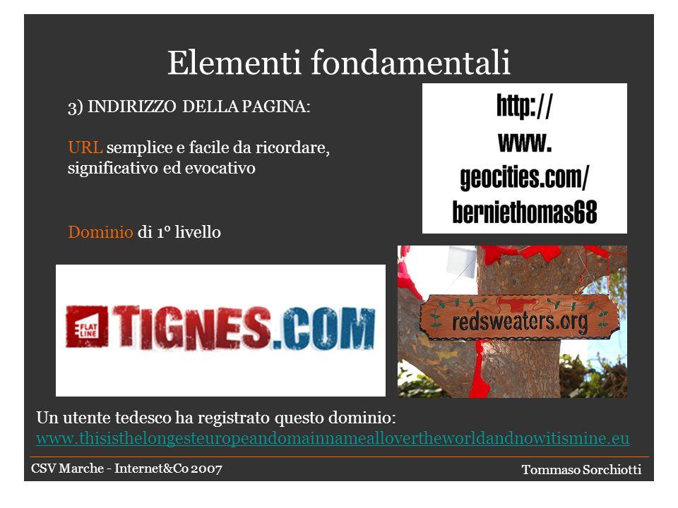 Elementi fondamentali 2) COMPONENTI DELLA PAGINA: Plug-in, nuove versioni, ecc..
