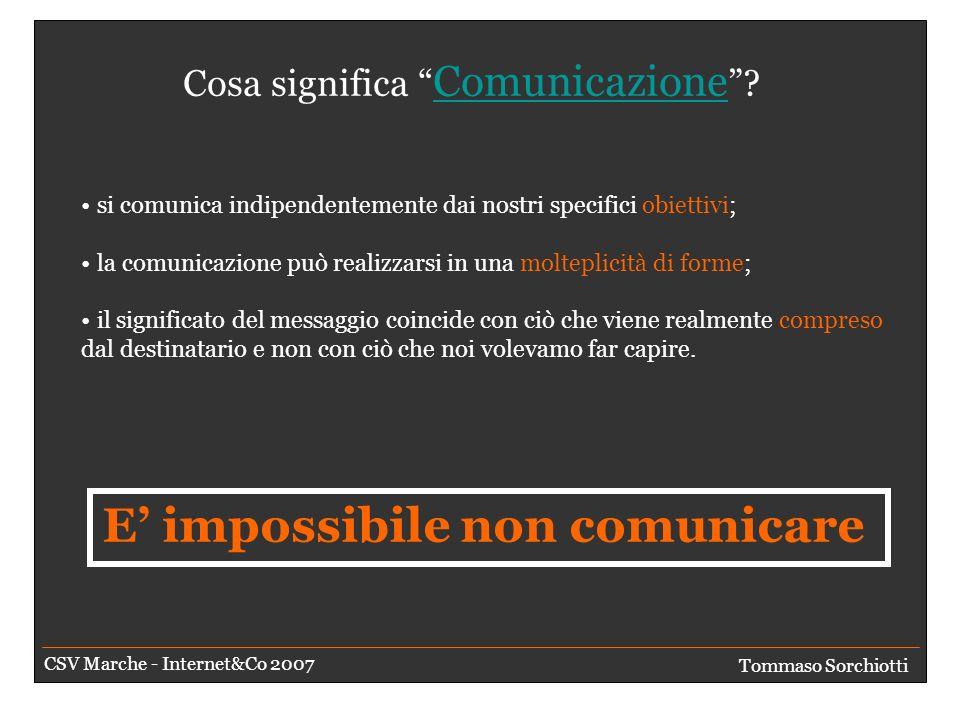 Comunicare è facile.