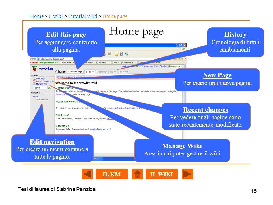 Tesi di laurea di Sabrina Panzica 15 Home page Edit this page Per aggiungere contenuto alla pagina.