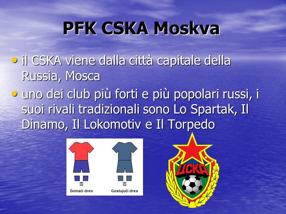 PFK CSKA Moskva il CSKA viene dalla città capitale della Russia, Mosca il CSKA viene dalla città capitale della Russia, Mosca uno dei club più forti e