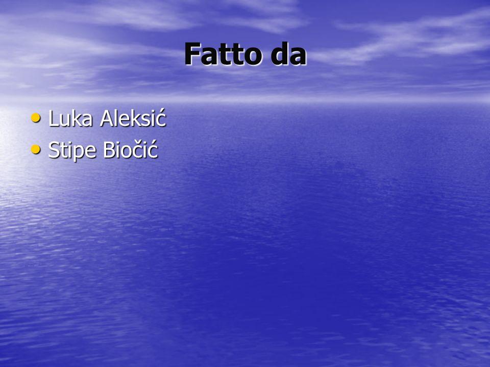 Fatto da Luka Aleksić Luka Aleksić Stipe Biočić Stipe Biočić