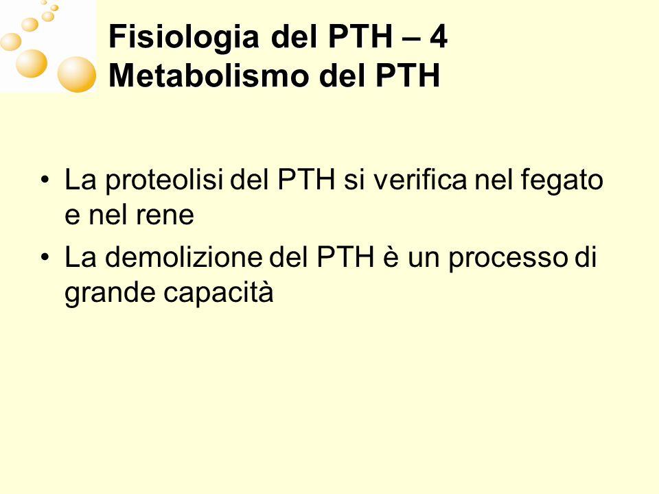 Peptidi circolanti derivati dal PTH Frammenti Mid-PTH 1 84 ?.