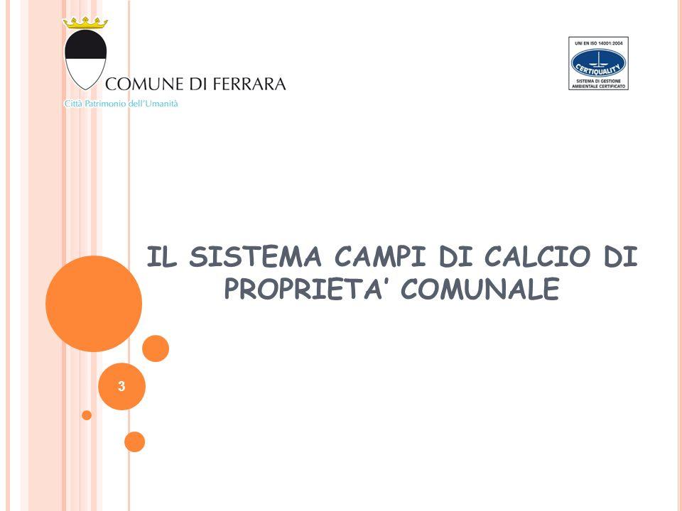 IL SISTEMA CAMPI DI CALCIO DI PROPRIETA COMUNALE 3