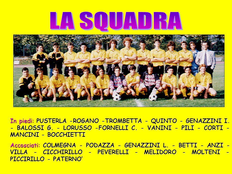 Domenica 2 Dicembre1990 Campo Gigi Meroni - ALBATE Ore 10.45 PRIMO TEMPO 0 - 1 MARCATORI: - CLASSIFICA: PUNTI 14
