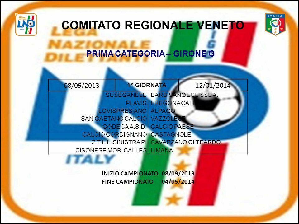 08/09/2013 1^ GIORNATA 12/01/2014 SUSEGANESEBARBISANO ECLISSE A.