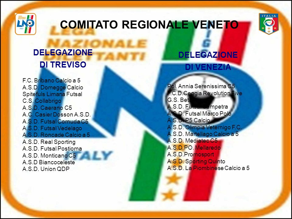 COMITATO REGIONALE VENETO DELEGAZIONE DI TREVISO F.C.
