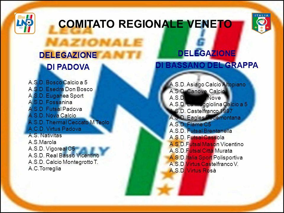 COMITATO REGIONALE VENETO DELEGAZIONE DI PADOVA A.S.D.