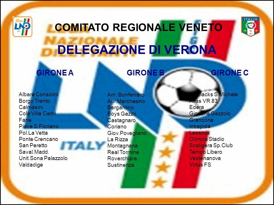 DELEGAZIONE DI VERONA Albarè Consolini Borgo Trento Calmasini Colà Villa Cedri Fane Piave S.Floriano Pol.La Vetta Ponte Crencano San Peretto Saval.Madd.