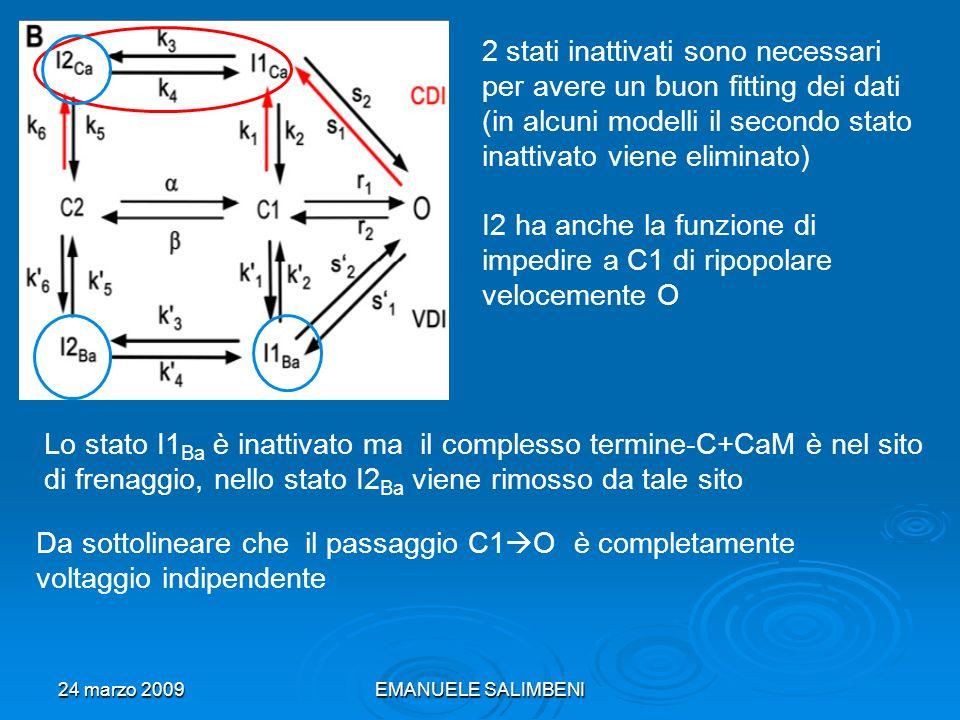 24 marzo 2009EMANUELE SALIMBENI Implementazione modello Markoviano: