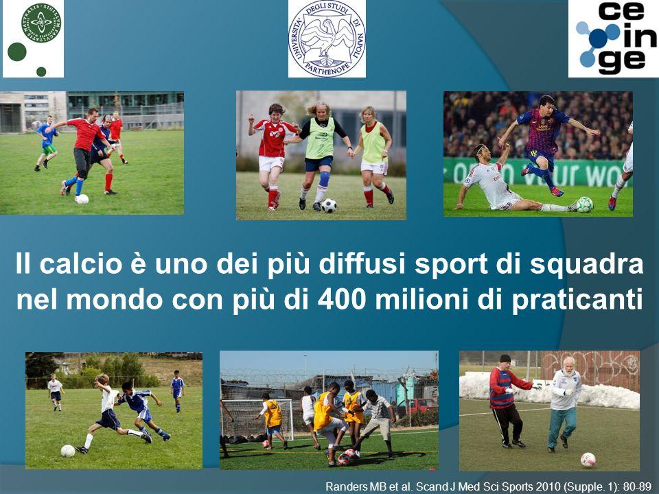 Il calcio è uno dei più diffusi sport di squadra nel mondo con più di 400 milioni di praticanti Randers MB et al.