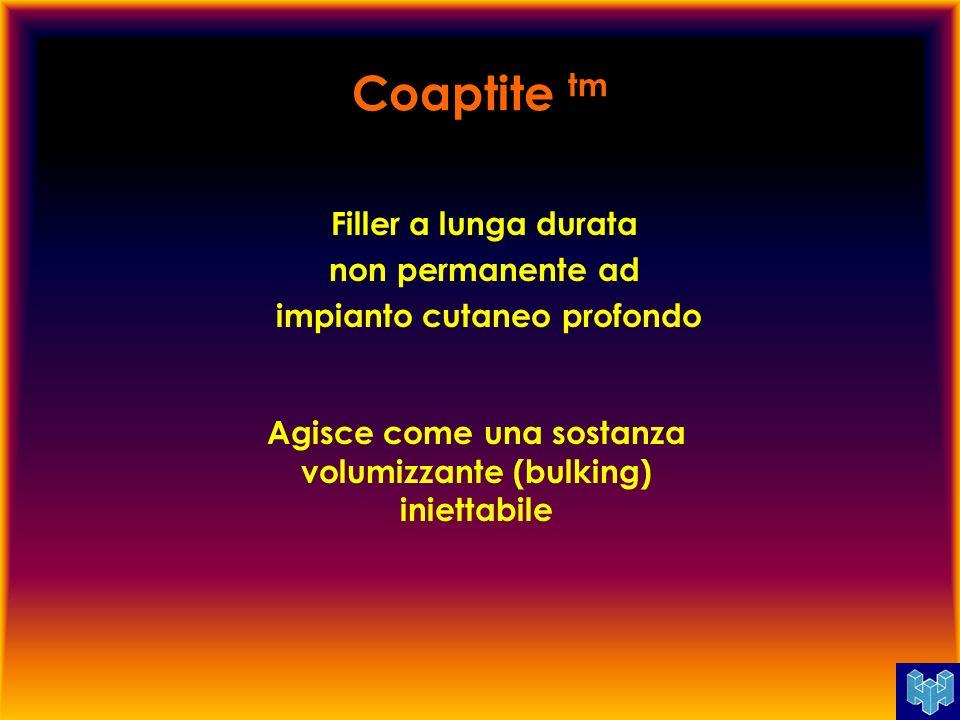 Coaptite tm Già utilizzata in ortopedia, ORL, maxillo-facciale, odontoiatria come sostituto dellosso.