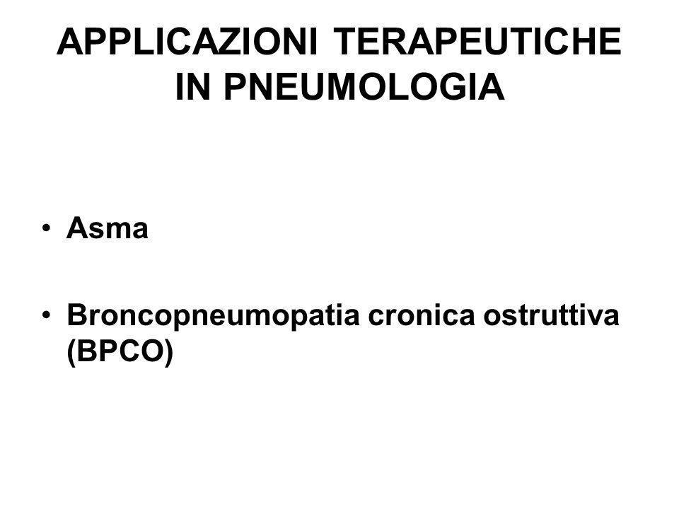 APPLICAZIONI TERAPEUTICHE IN PNEUMOLOGIA Asma Broncopneumopatia cronica ostruttiva (BPCO)