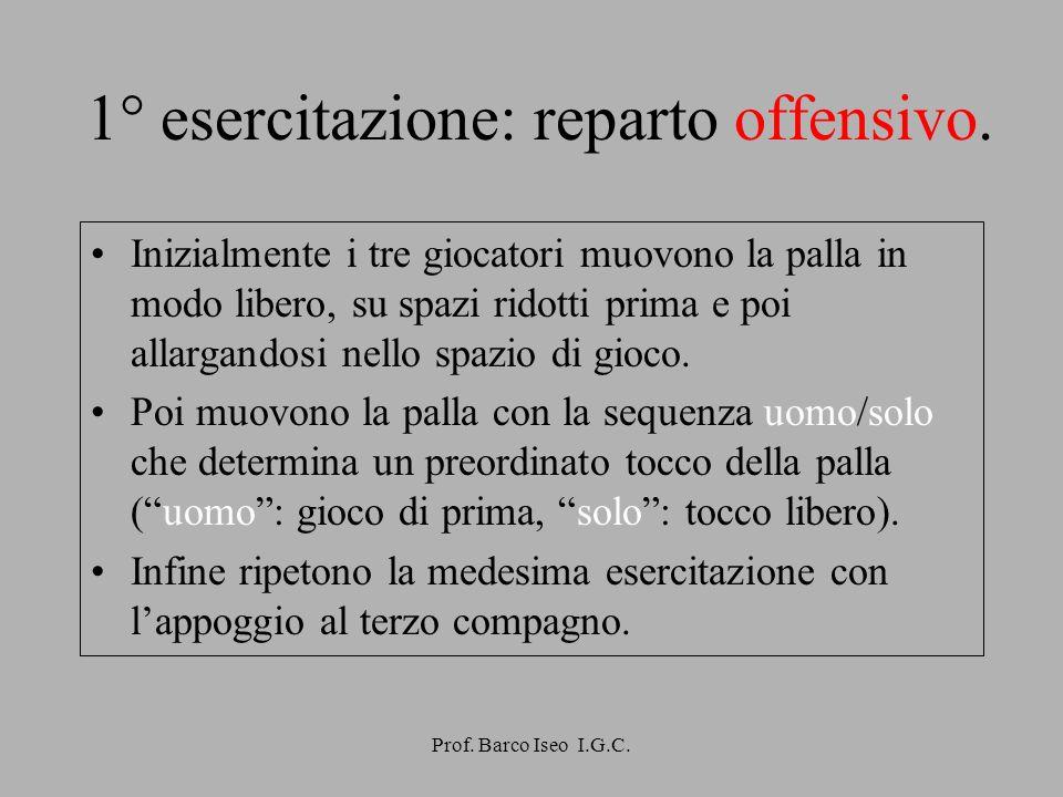 Prof. Barco Iseo I.G.C. 3° esercitazione: