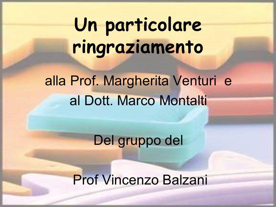 Un particolare ringraziamento alla Prof. Margherita Venturi e al Dott. Marco Montalti Del gruppo del Prof Vincenzo Balzani