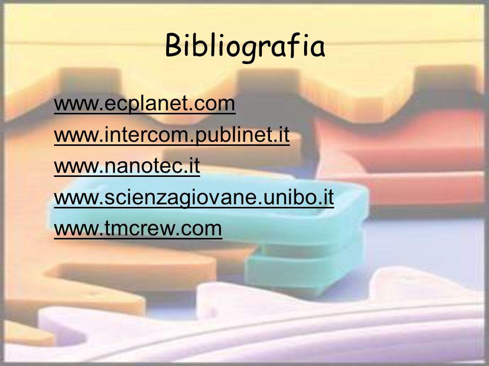Bibliografia www.ecplanet.com www.intercom.publinet.it www.nanotec.it www.scienzagiovane.unibo.it www.tmcrew.com
