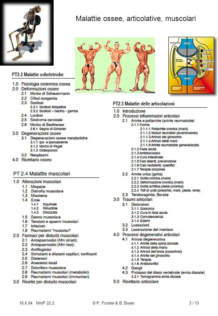 16.6.04 MmP 22.2© P. Forster & B. Buser3 / 13 Malattie ossee, articolative, muscolari