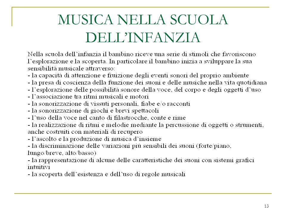 13 MUSICA NELLA SCUOLA DELLINFANZIA