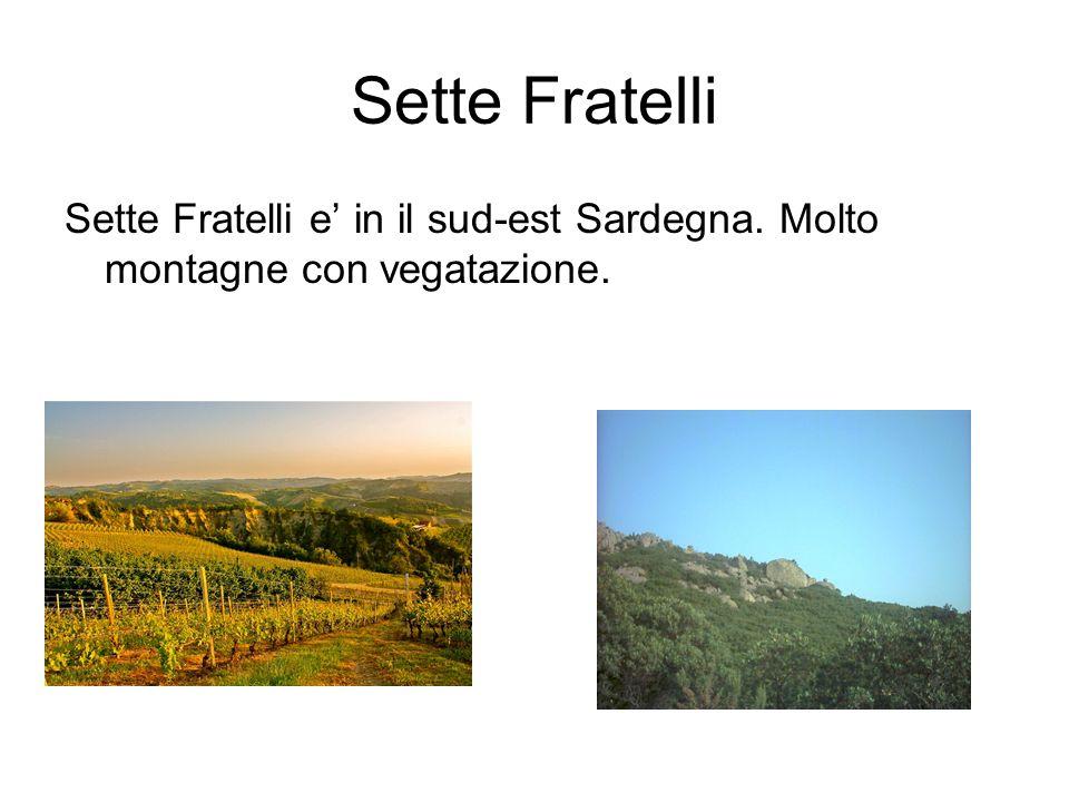 Sette Fratelli Sette Fratelli e in il sud-est Sardegna. Molto montagne con vegatazione.