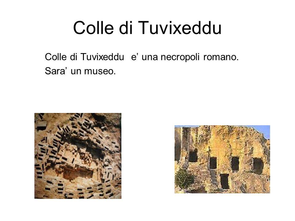 Colle di Tuvixeddu Colle di Tuvixeddu e una necropoli romano. Sara un museo.