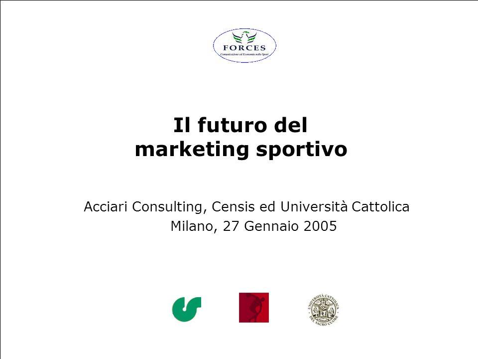 Il futuro del marketing sportivo Acciari Consulting, Censis ed Università Cattolica Milano, 27 Gennaio 2005