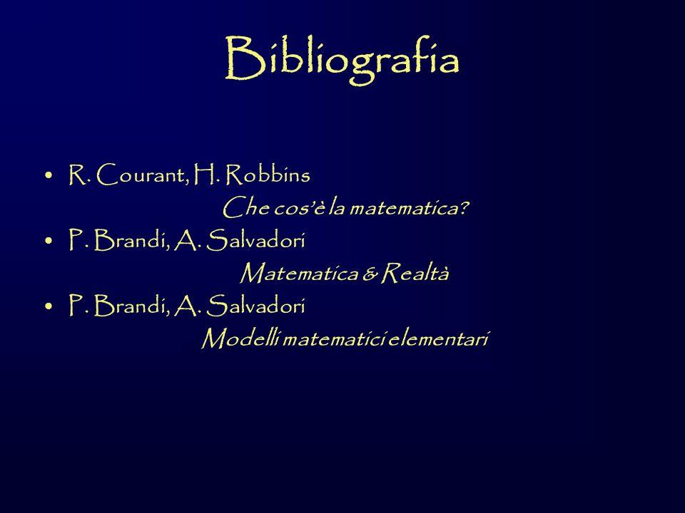 Bibliografia R.Courant, H. Robbins Che cosè la matematica.