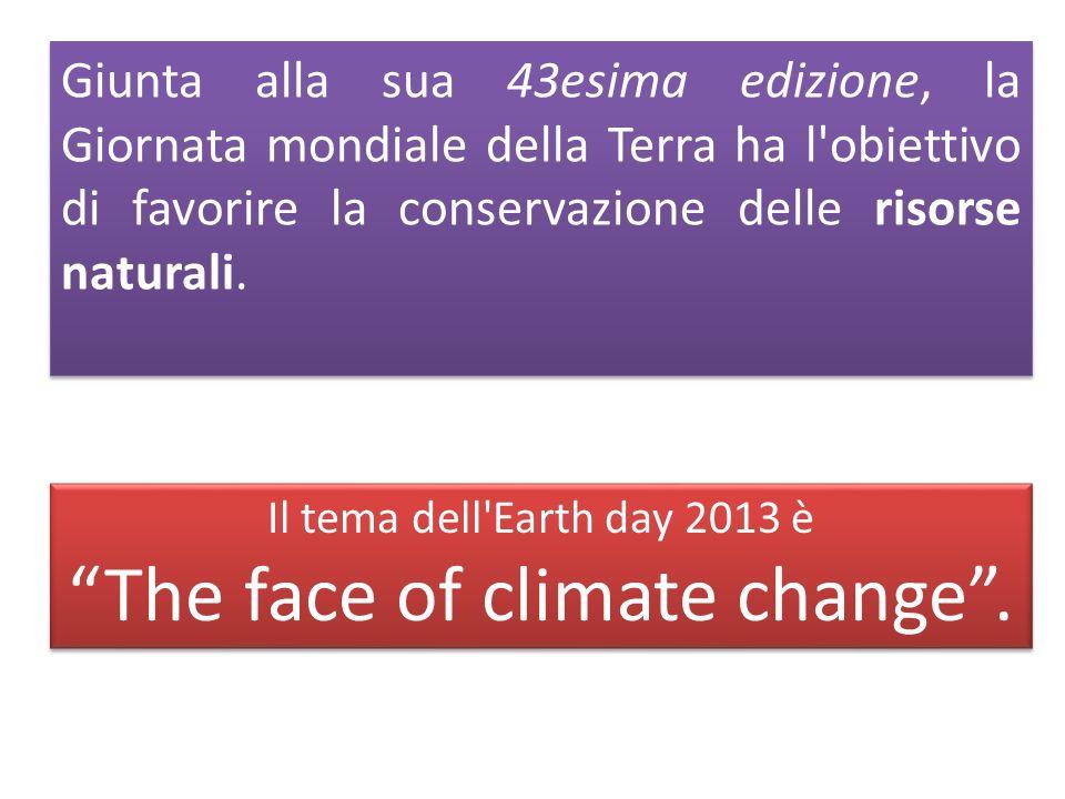Giunta alla sua 43esima edizione, la Giornata mondiale della Terra ha l obiettivo di favorire la conservazione delle risorse naturali.