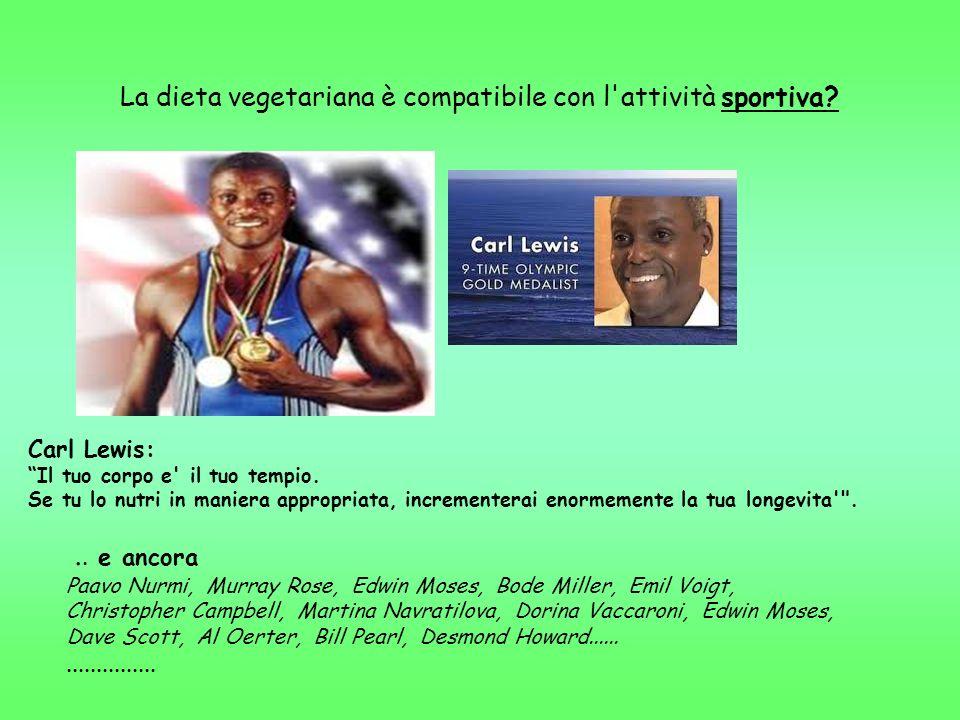La dieta vegetariana è compatibile con l'attività sportiva?.. e ancora Paavo Nurmi, Murray Rose, Edwin Moses, Bode Miller, Emil Voigt, Christopher Cam