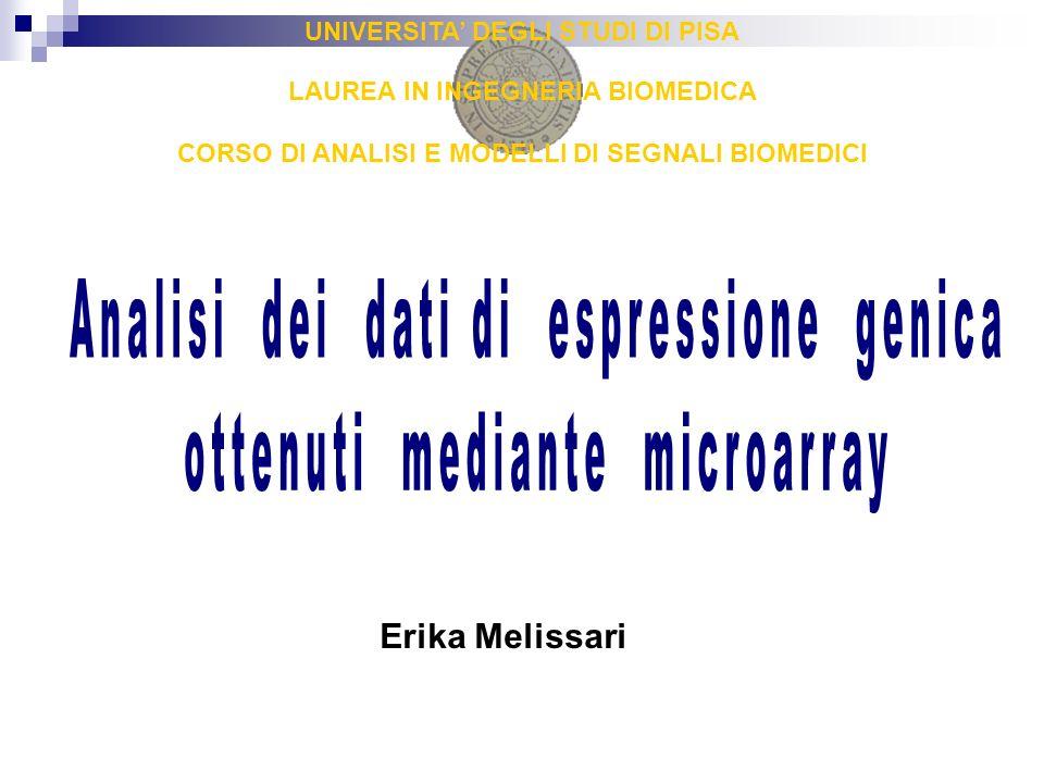 UNIVERSITA DEGLI STUDI DI PISA LAUREA IN INGEGNERIA BIOMEDICA CORSO DI ANALISI E MODELLI DI SEGNALI BIOMEDICI Erika Melissari