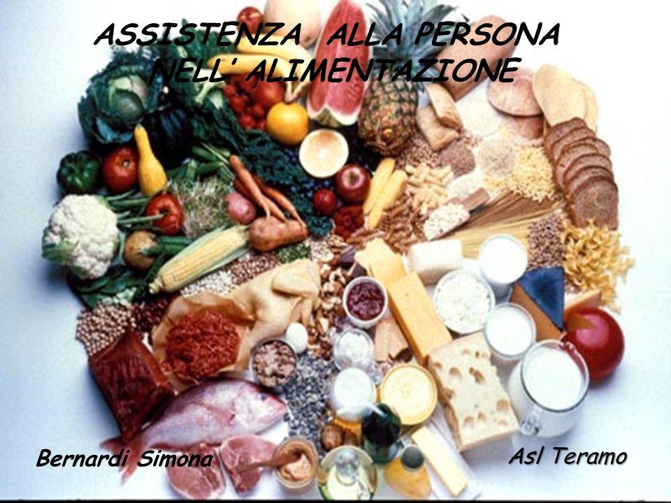 ASSISTENZA ALLA PERSONA NELL ALIMENTAZIONE Bernardi Simona Asl Teramo