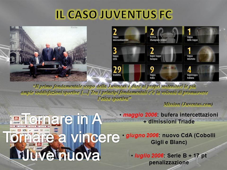 Il primo fondamentale scopo della Juventus è dare ai propri sostenitori le più ampie soddisfazioni sportive […] Tra i principi fondamentali cè la volo