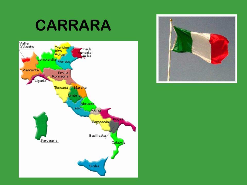 Carrara si trova in Toscana. La Toscana si trova nel centro-nord dellItalia.