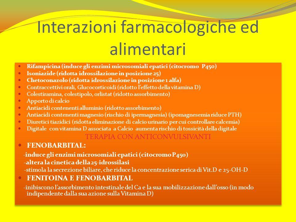 Interazioni farmacologiche ed alimentari Rifampicina (induce gli enzimi microsomiali epatici (citocromo P450) Isoniazide (ridotta idrossilazione in po