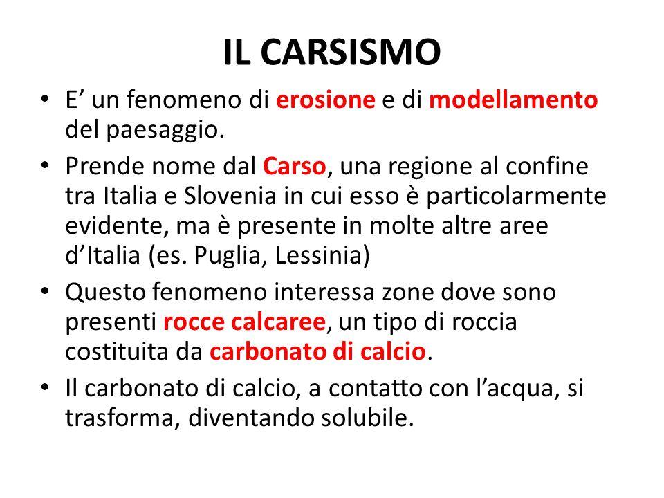 E un fenomeno di erosione e di modellamento del paesaggio. Prende nome dal Carso, una regione al confine tra Italia e Slovenia in cui esso è particola